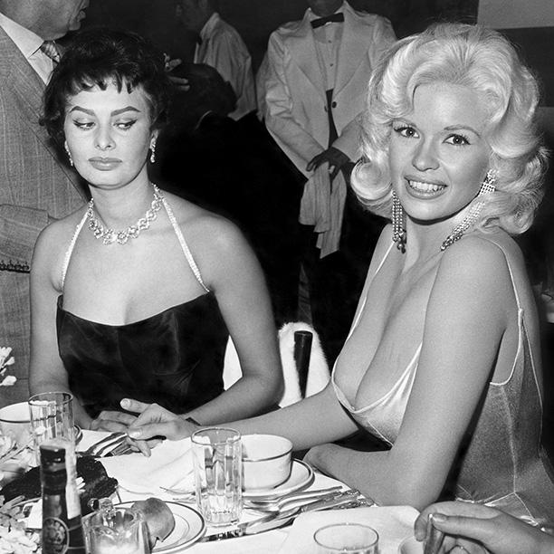 Sophia Loren eyeballs Jayne Mansfield.